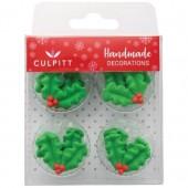 Culpitt Holly & Berry Sugar Pipings Pk/12