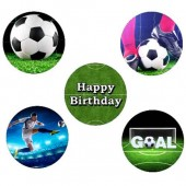 """Football Cupcake Toppers - 15 x 2"""""""