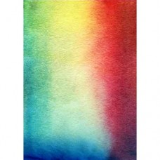 Colourful Watercolour Wafer Paper Sheets Pk/3