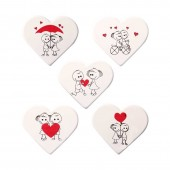 Belgian Chocolate Cute White Heart Decorations Box/75