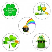 """St. Patrick's Day Cupcake Toppers - 15 x 2"""""""