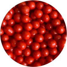 4mm Polished Red Pearls 80g