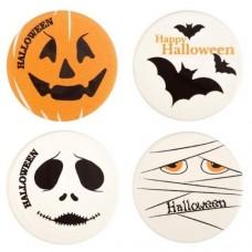 Belgian Chocolate Happy Halloween Discs Pk/8