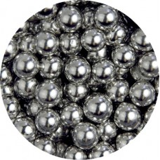 6mm Metallic Silver Pearls 80g