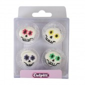 Edible Party Skull Pipings Pk/12