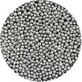 Metallic Silver Mini Pearls 80g