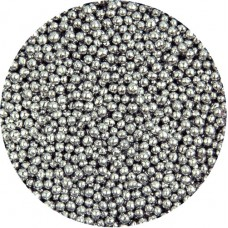 Metallic Silver Mini Pearls 80g
