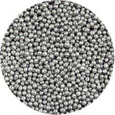 2mm Metallic Silver Pearls 80g