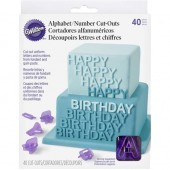 Wilton Alphabet & Number Cut Out Set/40