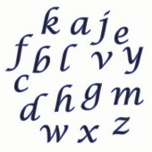 FMM Alphabet Lower Case Script