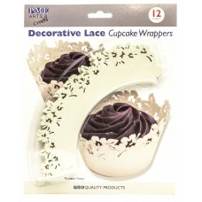 PME Ivory Flowers Cupcake Wrappers Pk/12