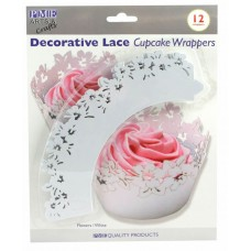 PME White Flowers Cupcake Wrappers Pk/12
