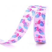 25mm Pink Flamingo Ribbon