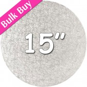 """Round Silver Drum 15"""""""