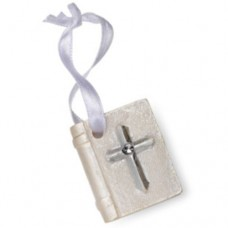 Pearl Bible with Silver Cross