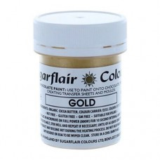 Sugarflair Chocolate Colouring Paint - Gold