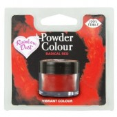 Rainbow Dust Powder Colour - Radical Red