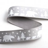 15mm Polar Bears Ribbon - 5m Roll