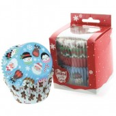 Baked with Love Christmas Friends Buncases Pk/100