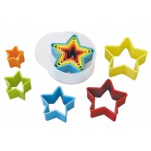 Stars Coloured Cookie Cutters Set/5
