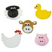 Farmyard Friends Sugarcraft Toppers Pk/5