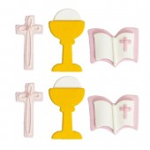 Decora Communion Girl Sugar Decorations Pk/6