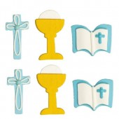 Decora Communion Boy Sugar Decorations Pk/6