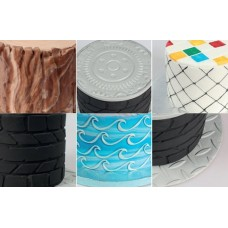 Cake Star Texture Mats - Outdoor Set/6