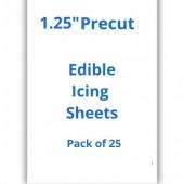 "1.25"" Precut  Edible Icing Sheets Pk/25"