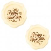 Belgian White Chocolate Happy New Year Stamps Pk/8