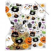 Fun Halloween Cello Bags with Twist Ties - Pack of 20