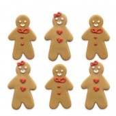 Gingerbread Friends Sugar Decorations Pk/6