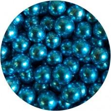 6mm Metallic Blue Pearls 80g