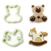 Decora Teddy Bear & Rocking Horse Cookie Cutters