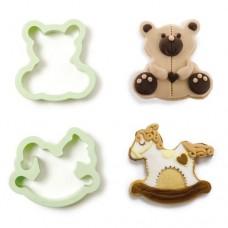 Decora Teddy Bear & Rocking Horse Cookie Cutters
