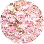 Powder Pink Geode Sprinkle Mix 100g