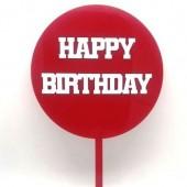 Red Happy Birthday Paddle - Acrylic