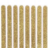 Popsicle Sticks Pk/8 - Gold Glitter
