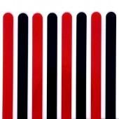 Popsicle Sticks Pk/8 - Black & Red