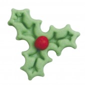 Mini Light Green Holly Sugar Pipings Pk/50