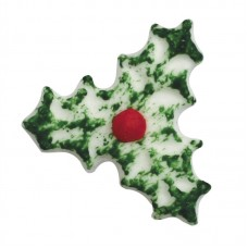 Sugar Triple Holly Decorations Pk/25