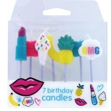 Tutti Frutti Candles Pk/7
