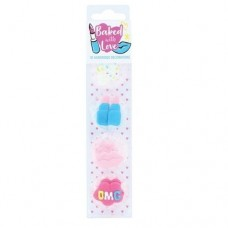 Baked with Love Sugar Pipings - Tutti Frutti Pk/10