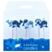 Narwhal Candles Pk/6