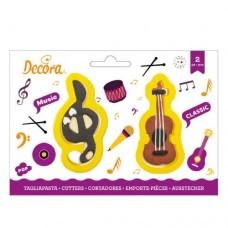 Decora Treble Clef & Violin Cookie Cutters