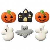 Decora Halloween Fantasy Sugar Decorations Pk/6