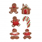 Decora Gingerbread Sugar Decorations Pk/6