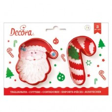 Decora Santa & Candy Cane Cookie Cutters