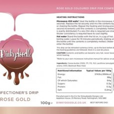 Dinkydoodle Confectioners Drip - Metallic Rose Gold
