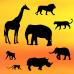 PC Safari Silhouette Set